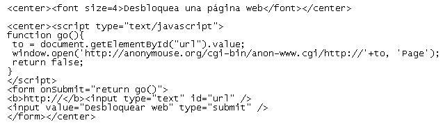 Pon un navegador proxy en tu web
