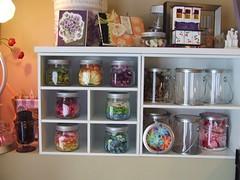 flower jars (Jacki Marie Artist) Tags: castle storage organize
