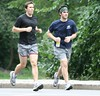 runner cp (g-cut) Tags: friends men legs candid guys runners shorts vpl jogging bulge