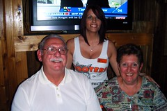 Shelley with Uncle John & Aunt Naomi (BuccaneerBoy) Tags: party hot fun wings boobs hooters 25 200 babes prettygirls clearwater hootersgirls originalhooters
