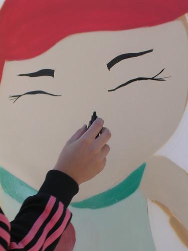 La mano de la grafitera. Grafiti 57