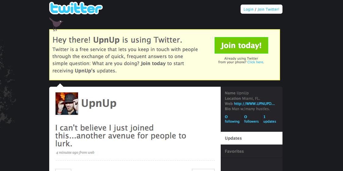 WWW.TWITTER.COM/UPNUP