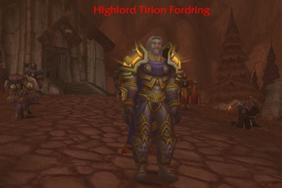 Tirion in Death Knight Fight