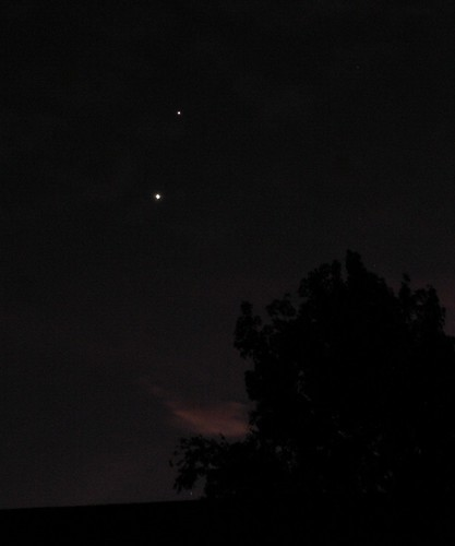 Jupiter and Venus, 29 Nov. 2008