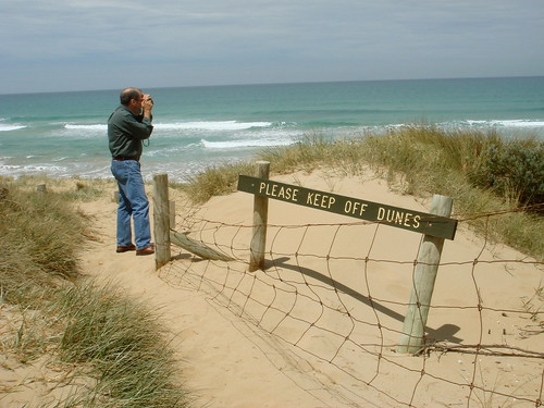 Keep off the dunes, dad!