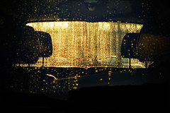 Goldenwest (BurlapZack) Tags: sunset water car sunrise droplets condensation goldenwest esterdrang headrests weehours canonpowershotg9