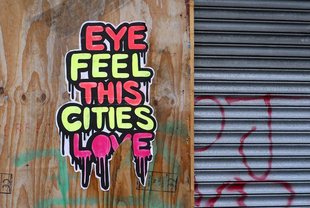poster graffiti in dublin