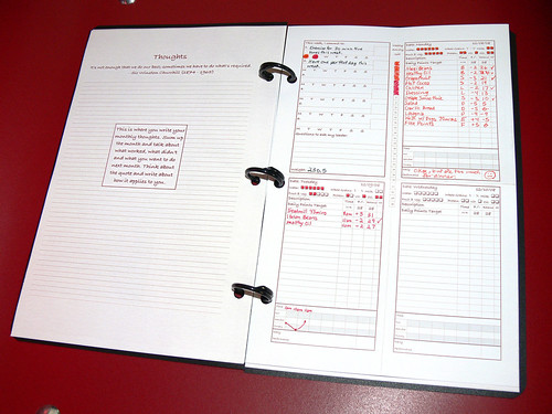Starling Fitness Yearly Journal: Binder opens to remove weekly pages from Flickr
