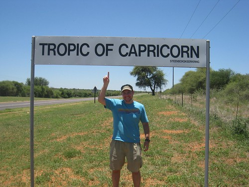 Crossing the Tropic of Capricorn in South Africa