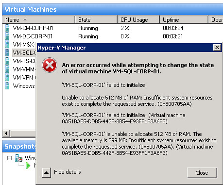 VMWare ESX: Hyper-V and memory overcommit? forget it! | Networknet nl