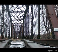 Railroad (Egoista_73) Tags: wood railroad trees sky usa river landscape track pennsylvania rail susquehanna solitudine