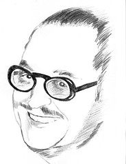 Forrest Ackerman (Blake Wycough) Tags: art pencil sketch drawing monsters fm forry famousmonsters ackerman forrestackerman