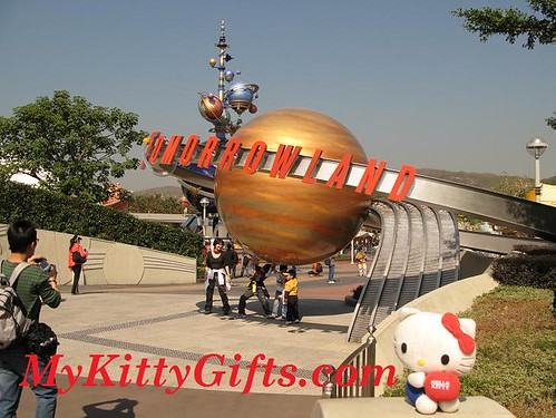 Hello Kitty's View of Entrance to Tomorrowland, Hong Kong Disneyland