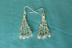 Knitted earrings - subtle