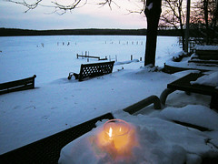 Lighting Our Solstice Candles at Sunset in the Subzero Windchill (Also http://www.ipernity.com/home/304321) Tags: candles solstice 2008 dec21 ffa lakewingra wingrapark wingraboathouse subzerowindchill lightingcandlesatsunsetbeforethelongestnightoftheyear