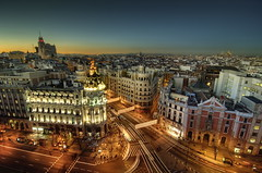 Madrid wishes you a Merry Christmas! (cuellar) Tags: madrid christmas city sunset urban espaa skyline architecture geotagged atardecer lights navidad spain europa europe cityscape nightshot ciudad cuellar nocturna urbana metropolis telefonica alcala granvia gothamcity tokina116 tokina1116mm geo:lat=40418354 geo:lon=3696647 cuellar2008top20