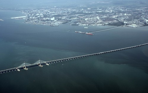 Aerial View of Penang Bridge by stardex.