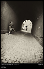 Corridor (Ali Reza ( )) Tags: street roof people woman history classic tourism home wall photography alley nikon flickr iran antique corridor hijab khaki folklore vernacular cloth  cha alireza yazd clothe        chador  nikor     chadar  d80               omidvand delashoob