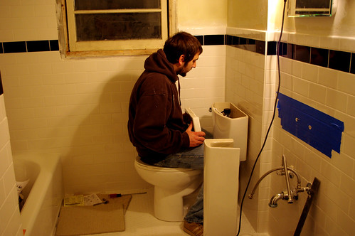 Installing the toilet