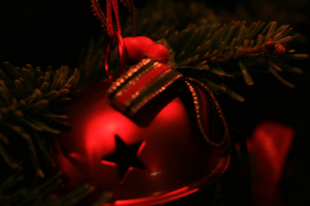 Red Bauble Bokeh