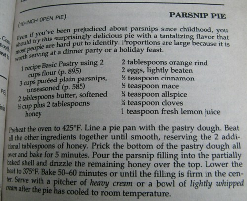 If you were wondering 'who is that cunt, hanging around, baking parsnip pies?', that would be me.