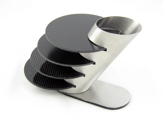 National Speed - Carbon Fiber Coasters