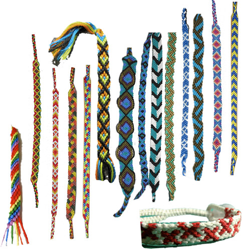 Buying embroidery floss for six friends to make friendship bracelets while