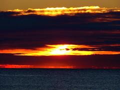 Sea Bright Sunrise (Ryan Schain) Tags: ocean morning blue sunset red sea orange sun beach water yellow sunrise dawn dusk atlantic atlanticocean