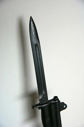 M1 Rifle bayonet; 10 inch blade