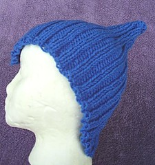 Adult Blue Pointed Pixie Hat (MountainEagleCrafter (Catching Up)) Tags: blue hat fun costume handmade handknit etsy elfhat pixiehat handknithat adultteensizehat
