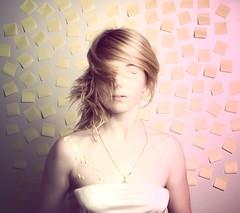 we were blind (238/365) (Katherine Elizabeth) Tags: hair paint blind sp 365 postits swoosh katieelizabeth