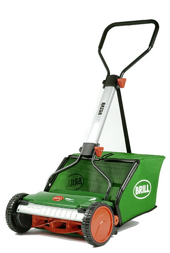 Brill Razorcut push reel mower with grass catcher - low res