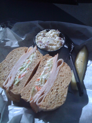 Turkey Sandwich with Cole Slaw?
