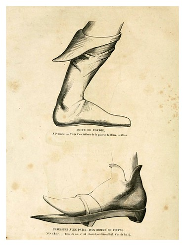004-Calzado del siglo XV-2-Histoire de la chaussure depuis l'antiquité-1862- Paul Lacroix y Alphonse Duchesne