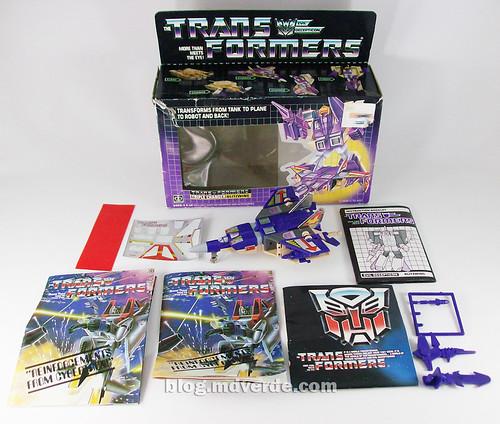 Transformers Blitzwing G1 - caja y contenido