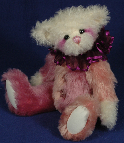 Pebbles 10 inch Mohair Clown Bear by Laura Lynn - Teddy Bear Artist