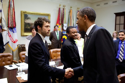 Ian Johnson, CFRA supporter, with President Obama