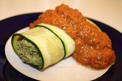 Pesto & Marinara Zucchini Rolls