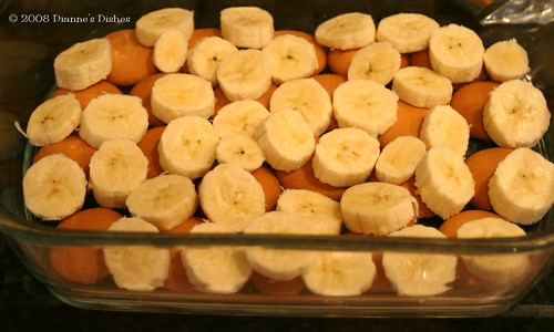Not Your Mama's Banana Pudding: First Banana Layer