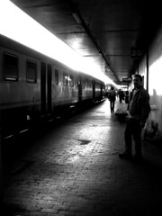 train (: panti :) Tags: people urban bw train blackwhite bn persone sole treno luce biancoenero riflesso cronacheurbane