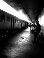 train (•:• panti •:•) Tags: people urban bw train blackwhite bn persone sole treno luce biancoenero riflesso cronacheurbane