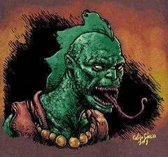 Cursed Planet: Lizard alien - color
