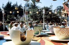 Disneyland Tea Cups, July 1968 (CraigZone) Tags: tea disneyland cups 1960s 1968 saucers