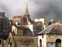 A Storm brewing in Tenby, South Wales (saxonfenken) Tags: church southwales buildings geotagged roofs thumbsup tenby soe 785 e500 bigmomma mywinners july2008 theunforgettablepictures friendlychallenges thechallengefactory agcg pregamewinner