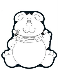 Urso (Lucia Helena Cesar) Tags: mel animais urso riscos moldes aplique patchcolagem