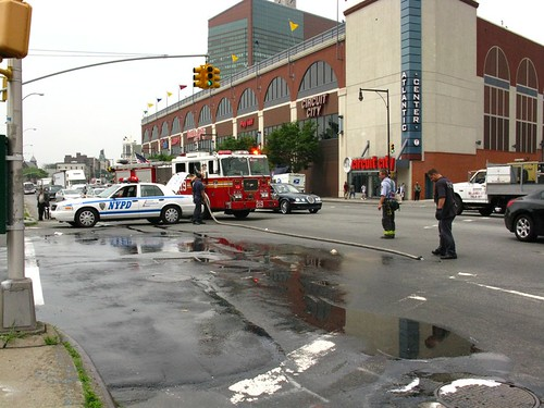 Atlantic Av Motorcyclist accident aftermath