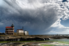 Thunderclouds above Märket lighthouse