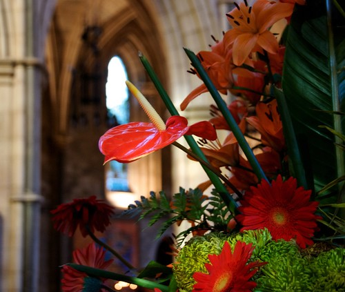 Flowers at Southwark Cathedral