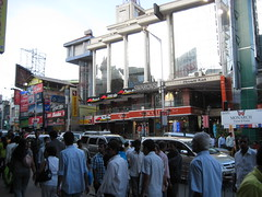 The busy Brigade Road, Bangalore