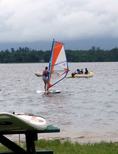 learning to windsurf in the rain